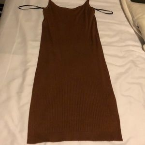 Forever 21 / F21 cognac brown fitted dress